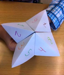 Comecocos de papel hecho por los alumnos del Aula Hospitalaria del Hospital La Paz de Madrid